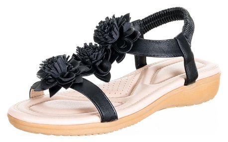 Dámské sandály Feixu s měkkou stélkou a aplikací květin umělá kůže ZX0046-1002