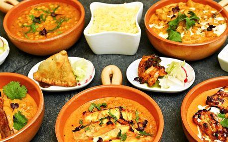 Indické 4chodové menu s masem či pro vegetariány