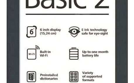 Čtečka knihPOCKETBOOK 614 Basic 2 (PB614B2G), tmavě šedá
