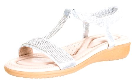 Feixu Dámské sandály s krystalky s měkkou stélkou umělá kůže ZX0047-1012