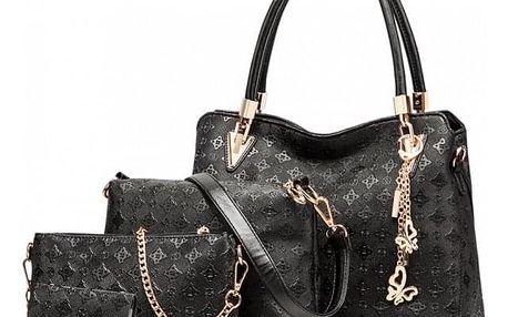 SET: Dámská černá kabelka Claire 6714