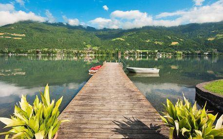 Jezero Ossiach v Rakousku s polopenzí, wellness a dětmi zdarma