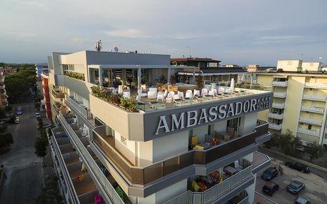 4–10denní Itálie, Bibione | Hotel Ambassador**** | Bazén, výřivka, wellness, plážový servis v ceně