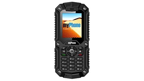 Mobilní telefon myPhone HAMMER DUAL SIM černý (TELMYHHAMBK)