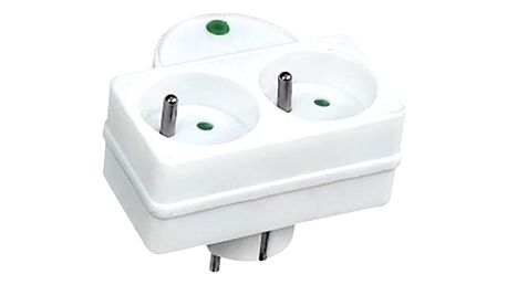 Přepěťová ochrana Solight 2x zásuvka, kontrolka bílá (PO27)