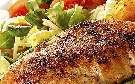 Švejk restaurant Strašnice - kuřecí grilovačka s přílohou + mufin 500g nebo rovnou 1000g.