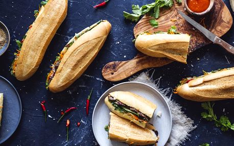 Vietnamská bageta bánh mì dle výběru ze 4 druhů