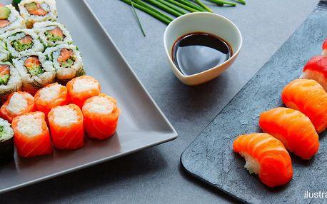 24–80 ks sushi vč. vegetariánského setu