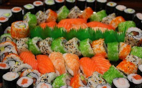 Sushi set s až 80 kousky včetně vegetariánského