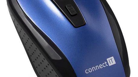 Myš Connect IT CI-1225 modrá (/ optická / 4 tlačítka / 1600dpi) (CI-1225)