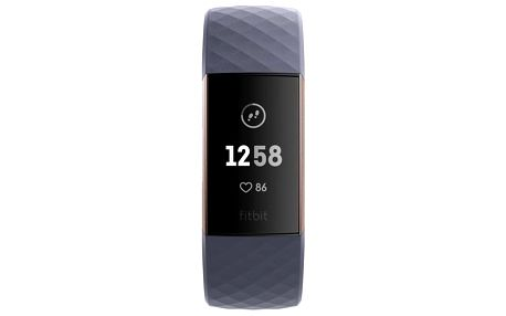 Fitness náramek Fitbit Charge 3 - Rose Gold, Blue Grey (FB409RGGY-EU)