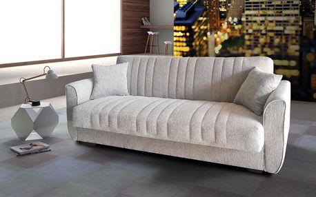 Rovná pohovka s úložným prostorem JANET ecem gray - šedá