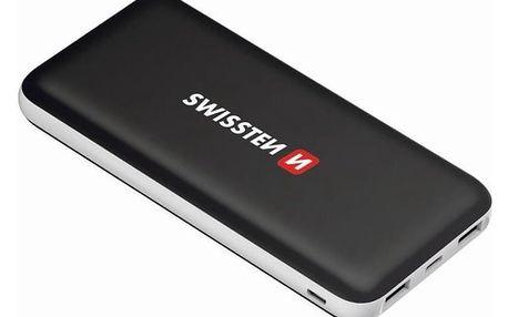 Powerbank Swissten Black Core Slim 10000mAH, USB-C černá (22013924)