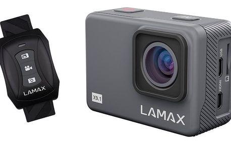 Outdoorová kamera LAMAX X9.1 šedá + dárky Nabíječka do sítě LAMAX USB Smart charger 45 v hodnotě 97 Kč + DOPRAVA ZDARMA