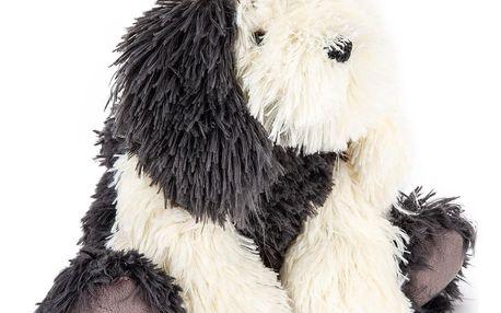 Bo-Ma Trading Plyšový pes Jonatán, šedá