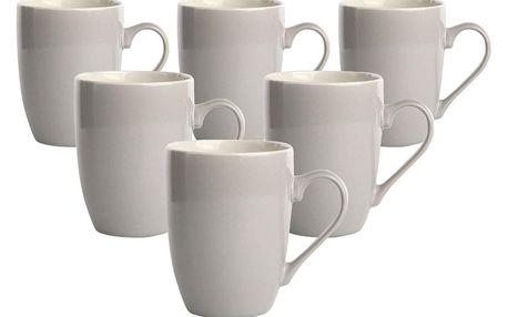 Altom Sada porcelánových hrnků Monokolor 300 ml šedá, 6 ks