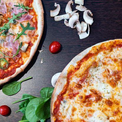 1 nebo 2 pizzy s originálními italskými surovinami