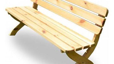 Tradgard STRONG 2724 Zahradní dřevěná lavice přírodní FSC 150 cm