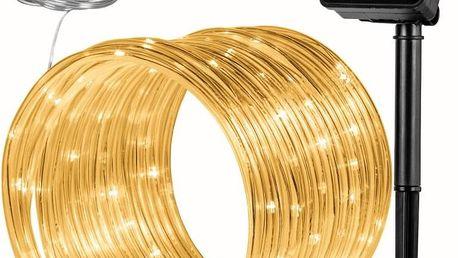 """VOLTRONIC® 59612 solární světelná hadice, 100 LED, teplá bílá"""""""