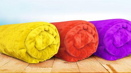 Barevné deky z mikroflanelu v 10 barvách