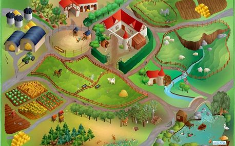 ACHOKA Hrací koberec Farma 100x150 cm