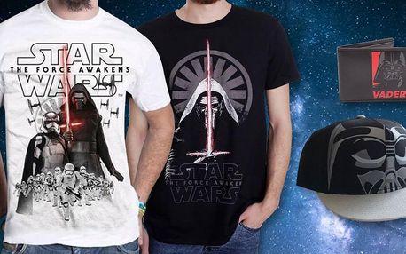 Peněženka, kšiltovka i trička s motivy Star Wars