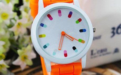 Barevné unisex hodinky se silikonovým páskem