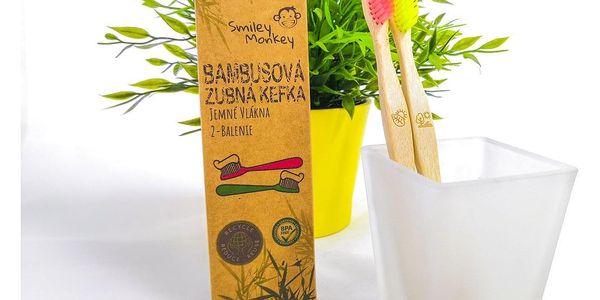 Bambusové zubní kartáčky – 2 ks v balení2