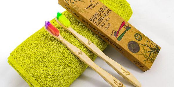 Ekologický bambusový zubní kartáček od Smiley Monkey včetně poštovného