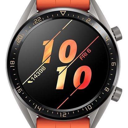 Chytré hodinky Huawei Watch GT Active oranžové (55023722)
