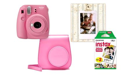 Digitální fotoaparát Fujifilm Instax mini 9 + pouzdro růžový