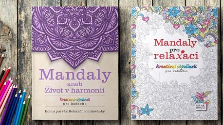 Mandaly: dvoje relaxační omalovánky pro dospělé