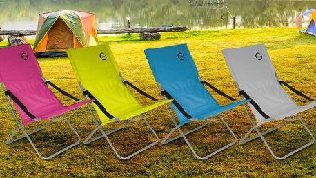 Skládací kempingové židle ve čtyřech barvách