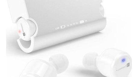 Connect IT True Wireless HYPER-BASS Bluetooth bílá (CEP-9000-WH)