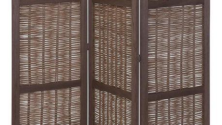 Home Styling Collection Dřevěný ozdobný panel, skládací, proutěný