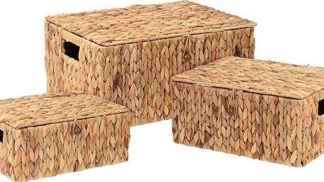 Home Styling Collection Koše pro skladování, 3 ks, z pleteniny - vodní hyacint