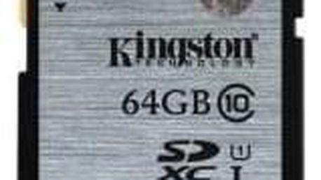 Kingston 64GB SDXC Class10 UHS-I až 45MB/s (SD10VG2/64GB)