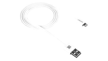 Kabel Canyon Lightning na USB, 1m, bílá