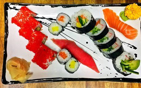 Sushi v novém baru: až 74 ks i party set s vínem