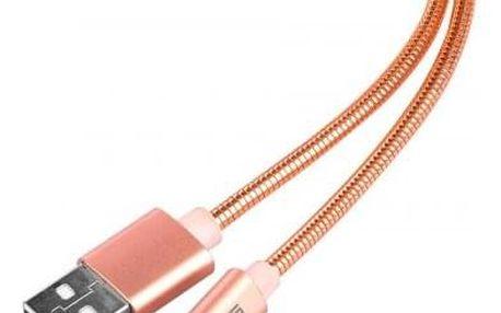 Kabel WGLightning na USB, 1m, růžová