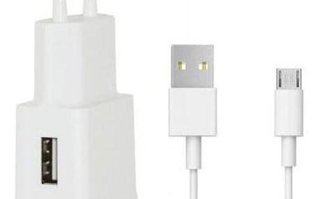 Nabíječka WG 1xUSB + kabel Micro USB, bílá