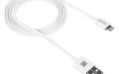 Kabel Canyon Lightning na USB, 1m, bílá