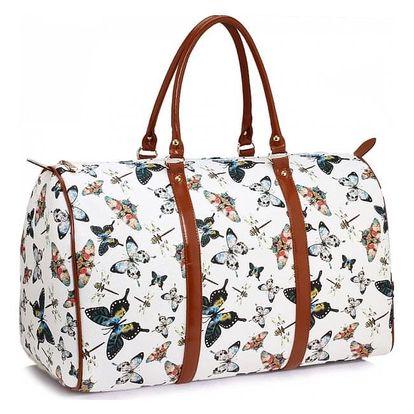 Dámská bílá cestovní taška Alice 479A