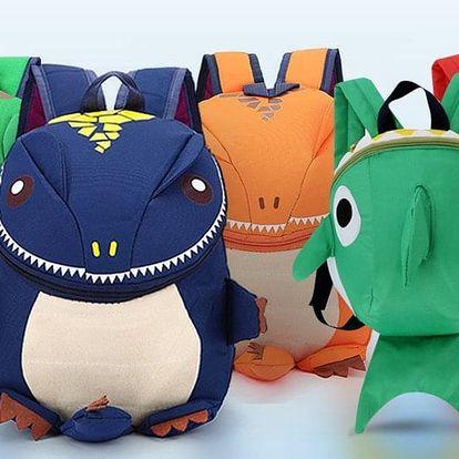 Veselé dětské batůžky: dinosaurus nebo žralok