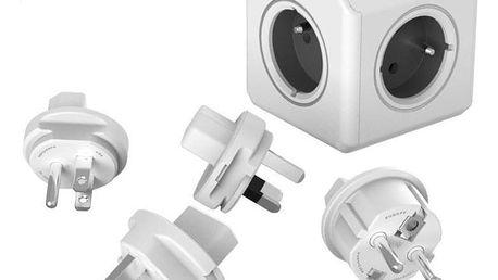 Powercube Rewirable + Travel Plugs - šedý šedý (456307)