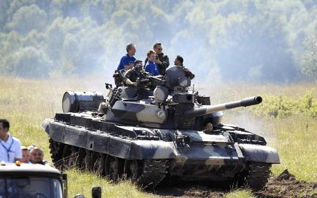 Jízda tankem T-55 nebo T-72