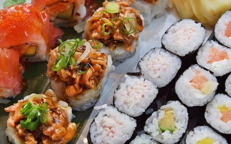 28 kousků sushi v moderním bistru v pasáži Alfa