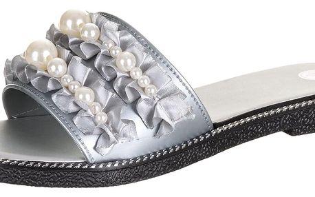 Dámské pantofle Modern world s perlami