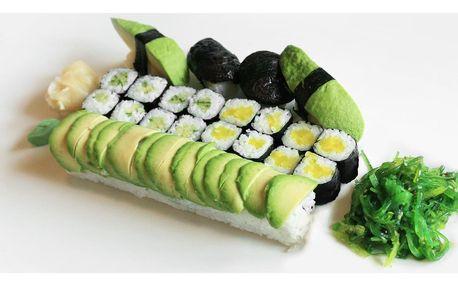 Sety sushi s čerstvou i tepelně upravenou náplní