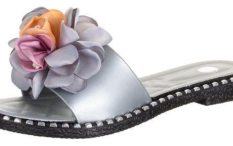 Dámské pantofle Modern world s aplikací květiny